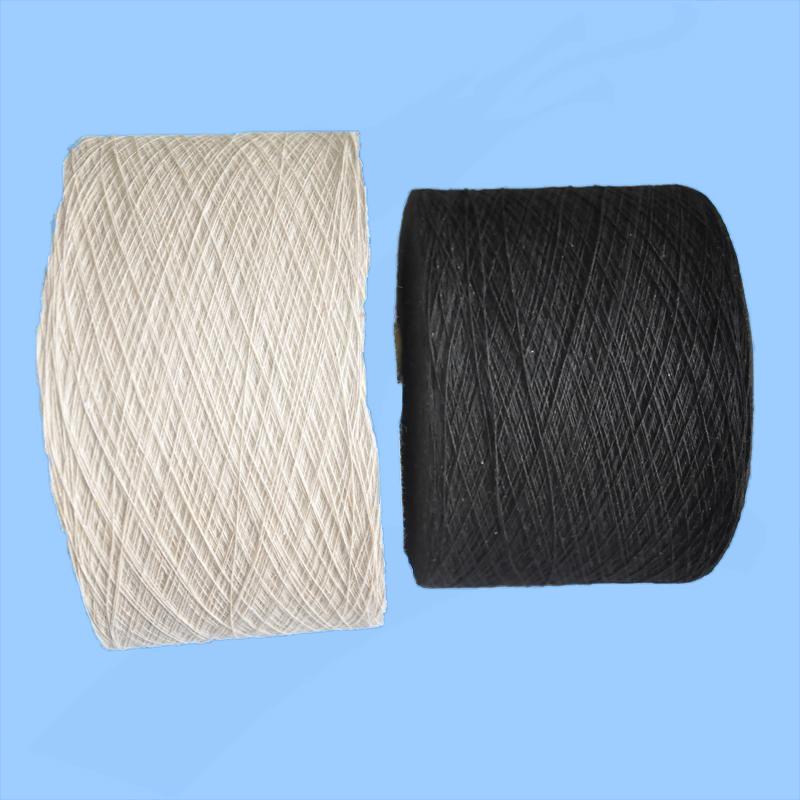 recycled cotton blended knitting knitting NE6S/Nm10s glove yarn for importer working gloves manafact