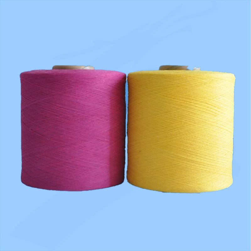 dyed yarn /regenerated polyester cotton yarn/20s cotton yarn price